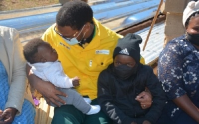 The lives of three people from uMsinga Municipality's Wards 3, 6 and 15 took a turn for the better